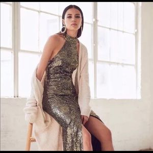 House of Harlow gold sequin dress